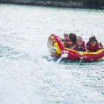 Tubing on Lake Ida