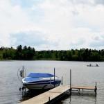 Speedboat on Lake Ida